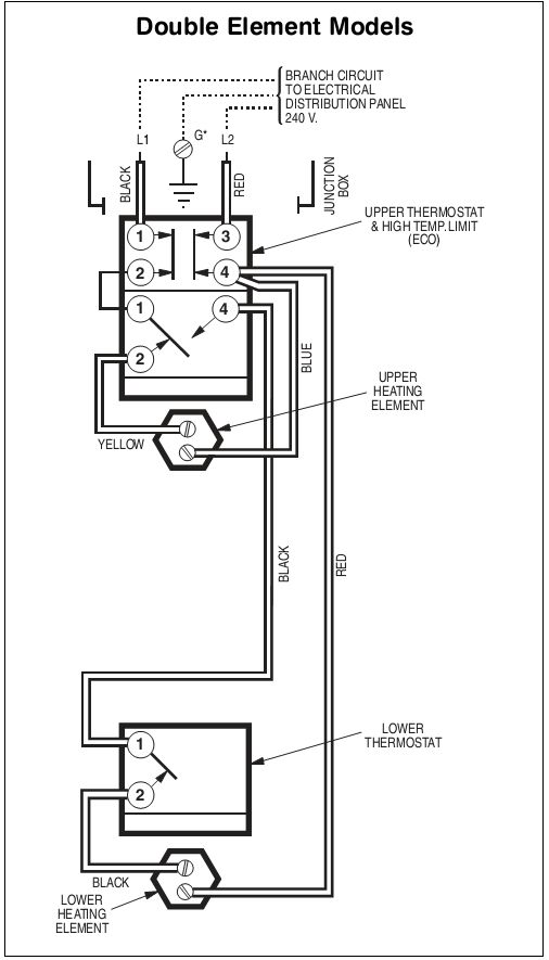 Wiring diagram for ge electric water heater