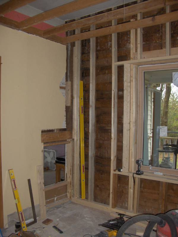 how to get cords down wall with insulation