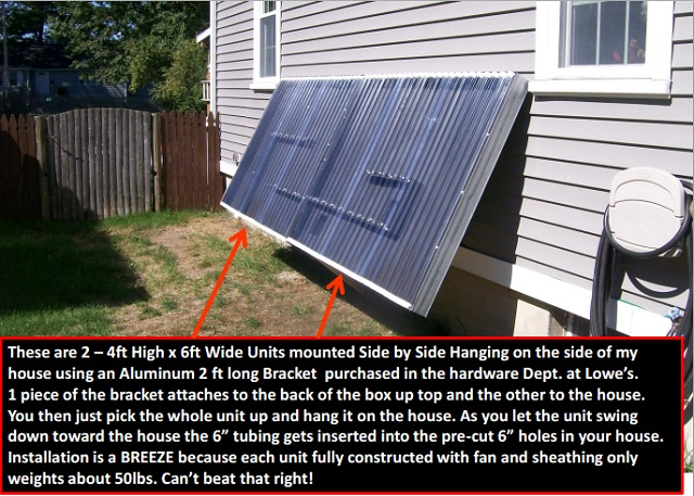 Pics of 2 diy systems being built hot air collectors and for Diy solar collector