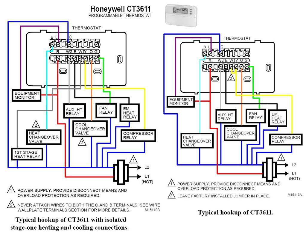 Wiring Diagram For Heat Pump Thermostat : Heat pump thermostat wiring diagram readingrat