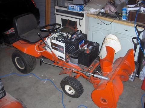 Post image for EcoRider: Snow Blower Attachment Installed