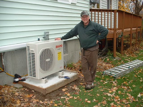 Post image for DIY Sanyo Air Source Heat Pump Install – Installing the Outdoor Unit