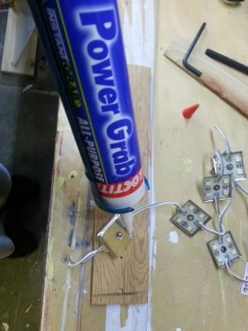 led fixture - gluing
